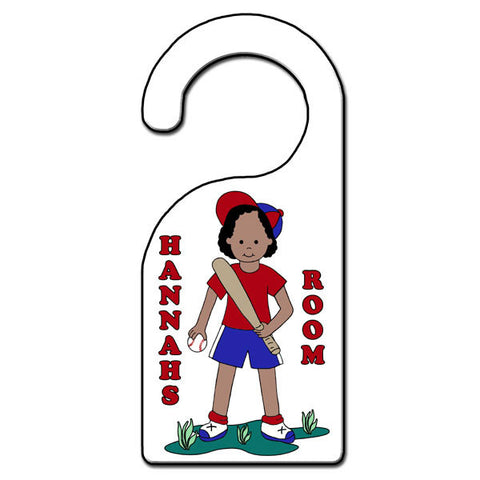 Baseball Girl Door Hanger