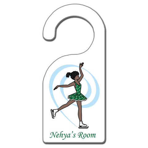 Ice Skating Door Hanger - Dainty Swirl Skater