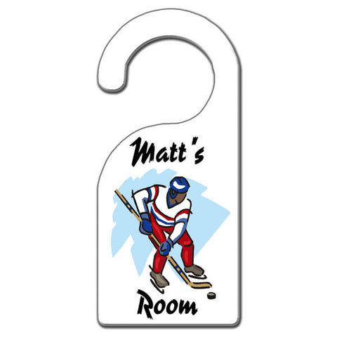 Hockey Player Door Hanger