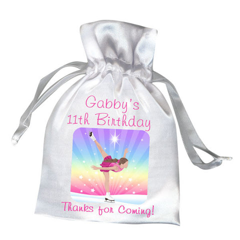 Ice Skating Dreams Party Favor Bag
