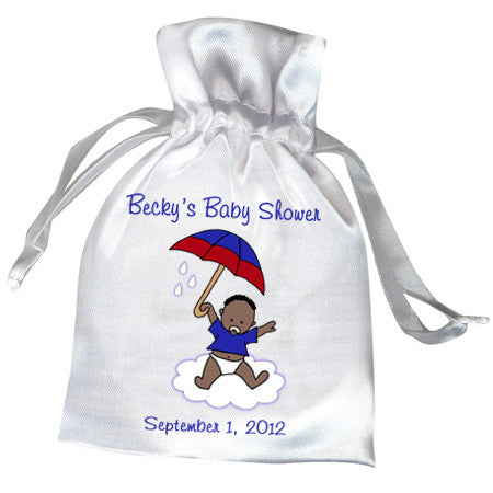 International Umbrella Baby Adoption Shower Favor Bag - Boy
