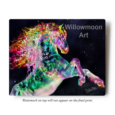 Electric Horse Metal Art Print by Willowmoon Art