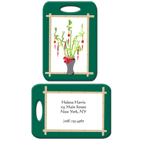 Lucky Bamboo Bag Tag