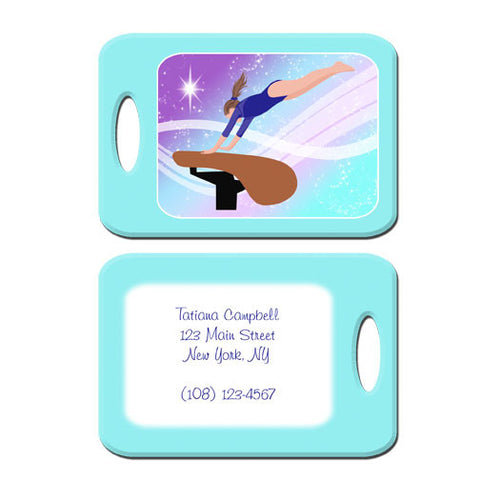 Gymnastics Dreams Bag Tag - Vault Design