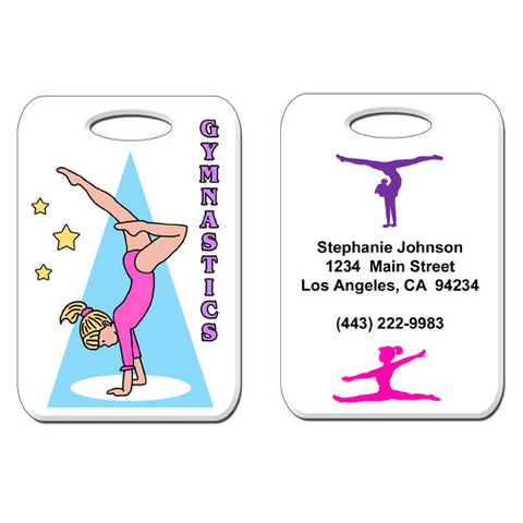 Gymnastics Girl Bag Tag - Handstand
