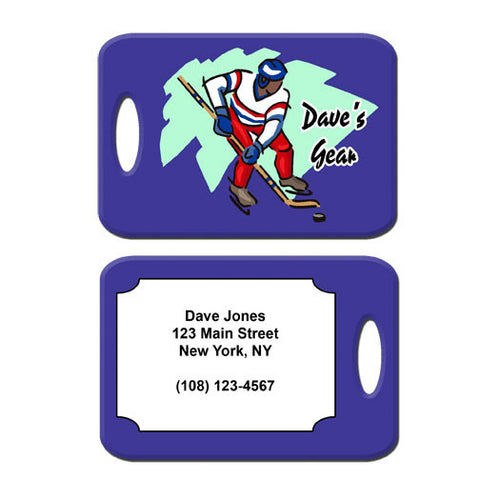 Hockey Player Bag Tag