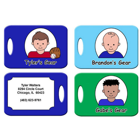 Cartoon Kids Backpack or Luggage Tag - Boy