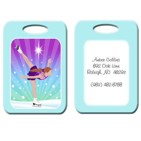 Ice Skating Dreams Bag Tag