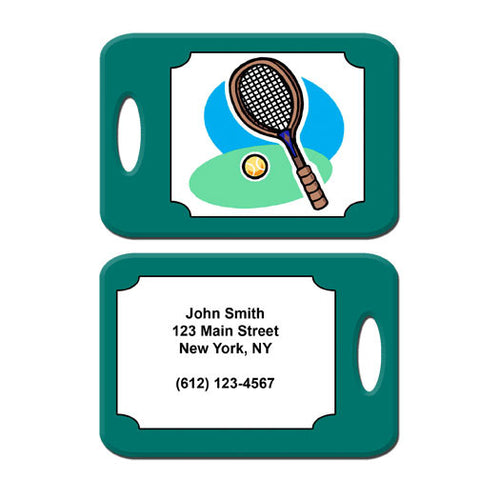 Tennis Racket Bag Tag