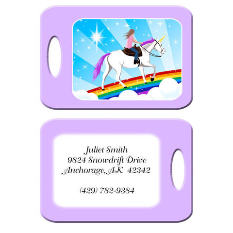 Unicorn Dreams Bag Tag