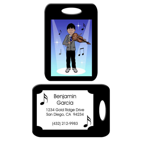 Violin Recital Boy Bag Tag