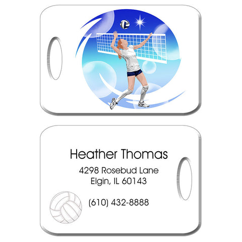 Volleyball Dreams Bag Tag