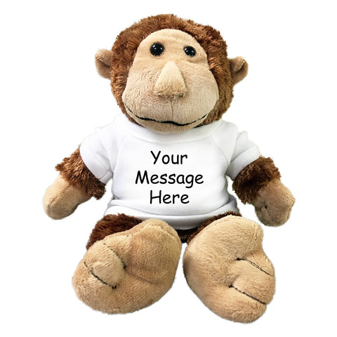 Personalized Stuffed Monkey, 12""