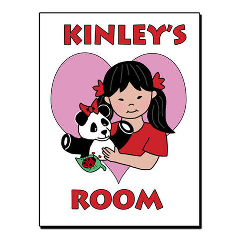 Panda Girl Room Sign