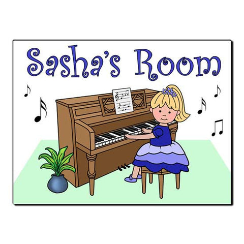 Piano Recital Girl Room Sign