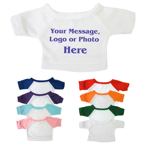 "Personalized T-Shirt for 12"" Teddy Bears or Stuffed Animals"
