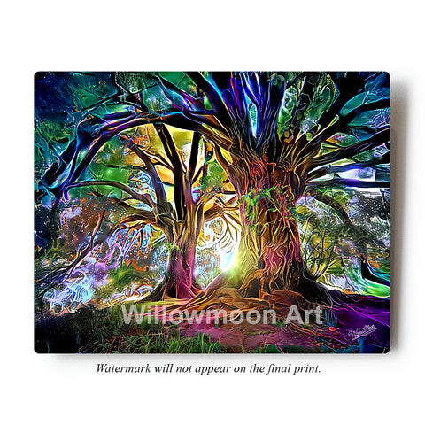Mystical Trees Metal Art Print by Willowmoon Art