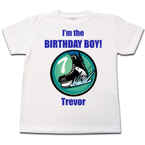Hockey Skate Birthday Shirt