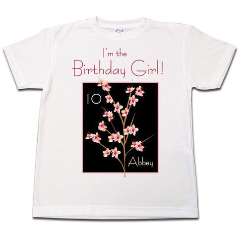 Peach Blossom Birthday T Shirt