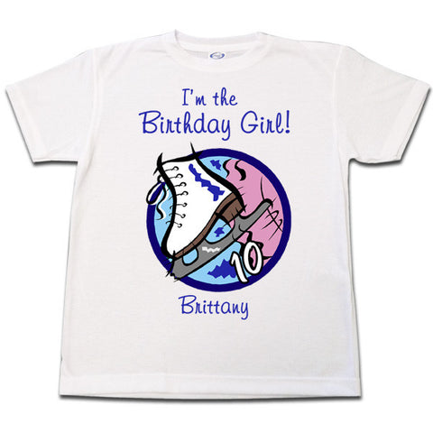 Ice Skate Birthday T Shirt