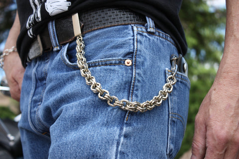"10"" Square Link Wallet Chain"