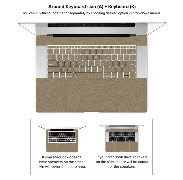 Brown Paper Bag MacBook Skin - around keyboard skin