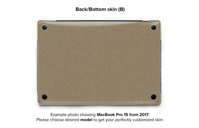 Brown Paper Bag MacBook Skin - back skin