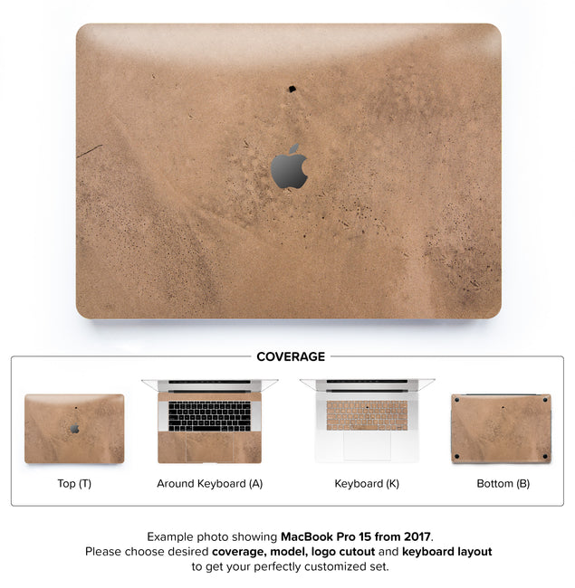 Happy sand MacBook Skin