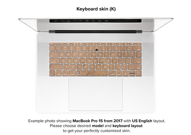 Happy sand MacBook Skin - keyboard stickers
