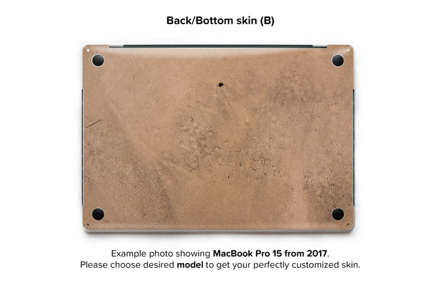 Happy sand MacBook Skin - back skin
