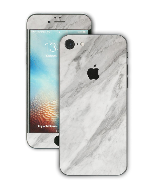 New White Marble iPhone Skin