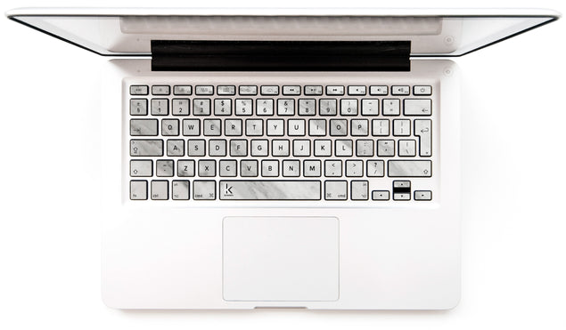 New White Marble MacBook Keyboard Stickers