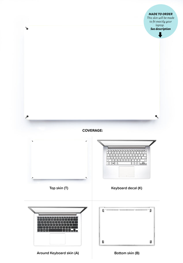 Plain White Laptop Skin