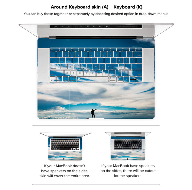 Tam MacBook Skin - around keyboard skin