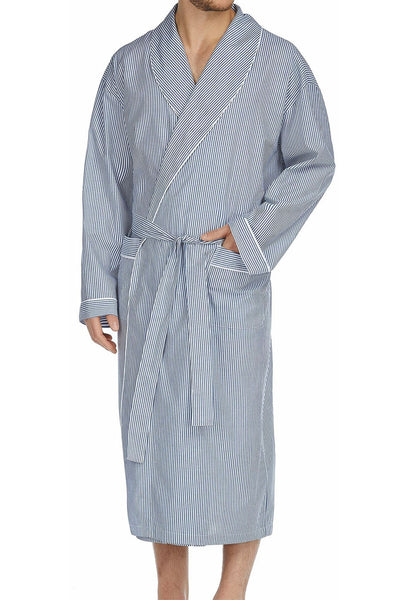 Majestic International Cobalt Woven Shawl Robe