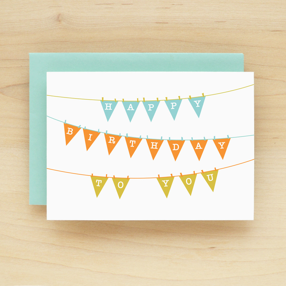 """Happy Birthday To You"" Birthday Banner Greeting Card #150"