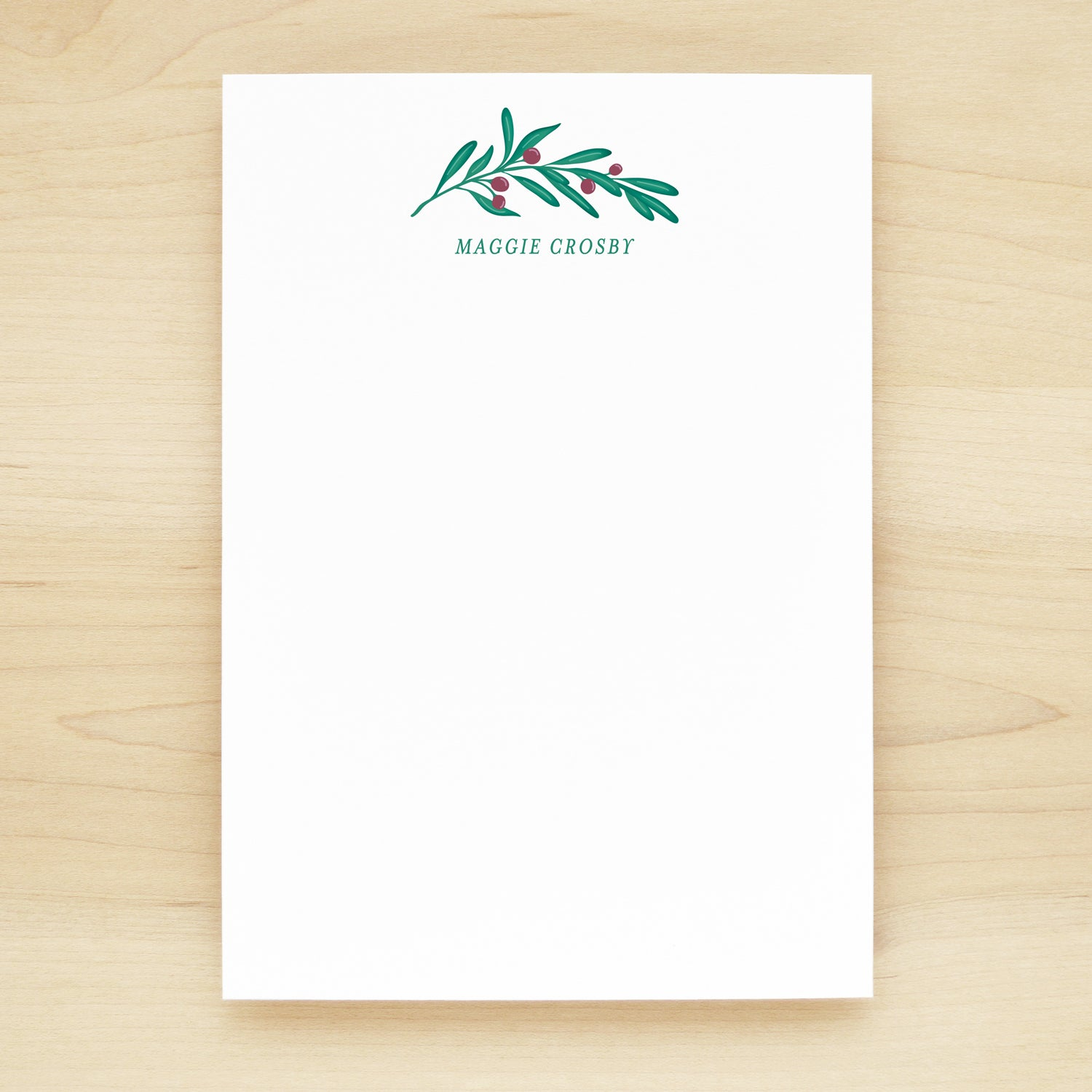 Lush Personalized Notepad