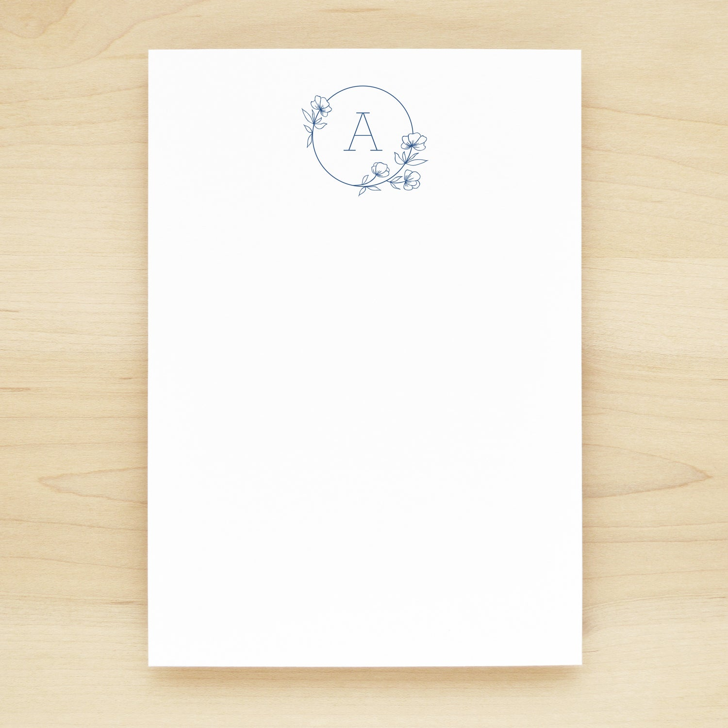 Poppy Outline Personalized Notepad
