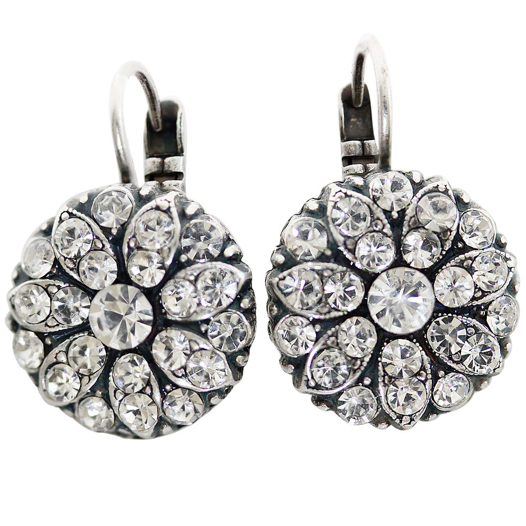 Mariana Silver Plated Flower Blossom Swarovski Crystal Earrings, On A Clear Day 1029 001001