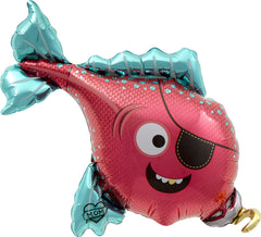 Pirate Fish Foil Balloon - The Sweet Hostess