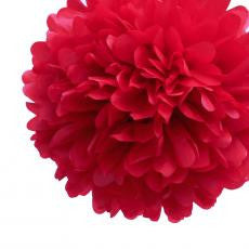Medium Red Paper Pom Pom