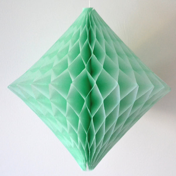 Mint Diamond Honeycomb Decoration