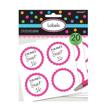 Fuchsia Sweet Labels