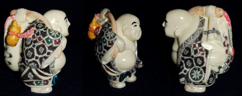 HK Ivory Walking Buddha