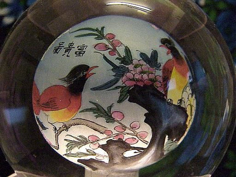 Crystal Globe Inside Painted Scenes of Birds, Tiger, Princesses, Pandas and More!
