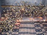 Lighted Gold Pip Berry Garland 4' - Primitive Star Quilt Shop