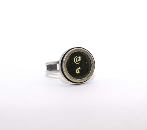 Vintage Authentic Typewriter Key Ring - @ and cent