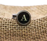 Vintage Authentic Typewriter Key Ring - letter A