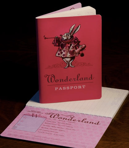Alice in Wonderland Notebook passport