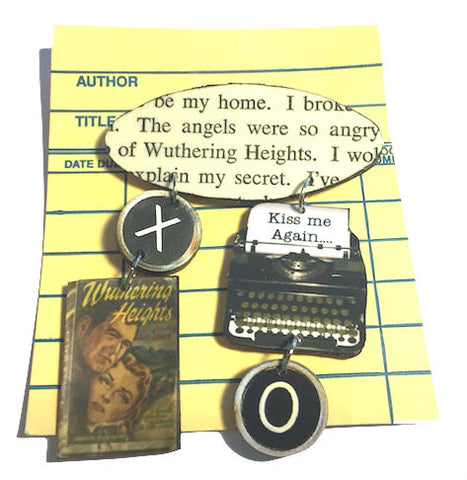 Book Brooch - Wuthering Heights
